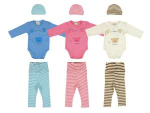 Három részes baba Szett (méret: 56-74) - Maci 30491548