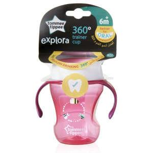 Tommee Tippee Explora 360° trainer cup Itatópohár 6hó+ #rózsaszín 30261594