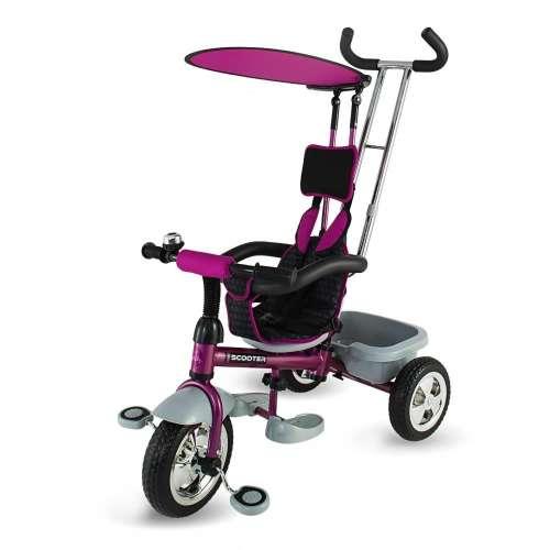 DHS Scooter Plus szülőkormányos Tricikli #lila