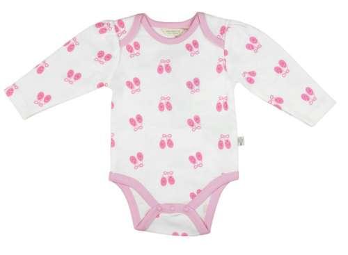 Kislány baba hosszú ujjú Kombidressz  rózsaszín mintával 74-80 ... 6e20edad3c