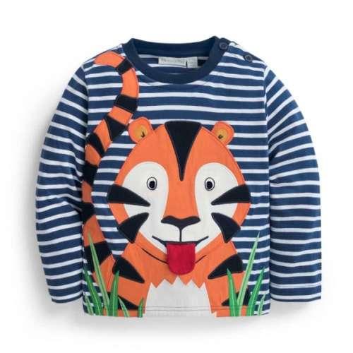 JoJo tigrismintás sötétkék hosszúujjú póló