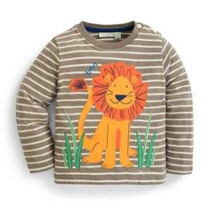 JoJo #világosbarna oroszlánmintás hosszúujjú Póló 30263046 Gyerek hosszú ujjú póló