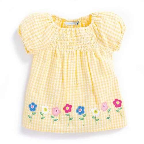 Jojo rövid ujjú Blúz - Virág #sárga