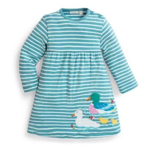 Jojo hosszú ujjú Kislány ruha - Csíkos #kék-fehér