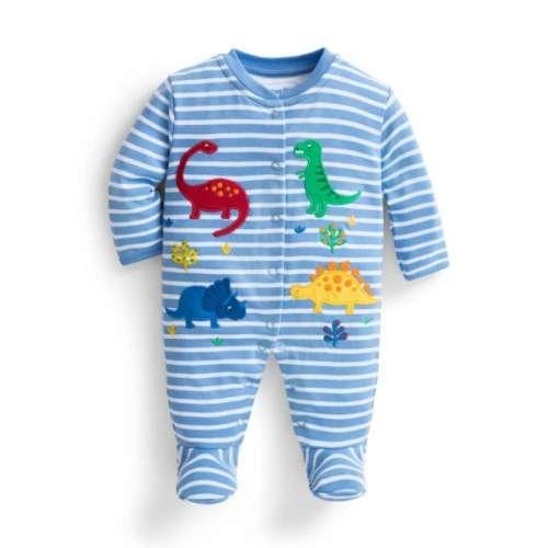 JoJo #kék dinoszauruszos rugdalózó