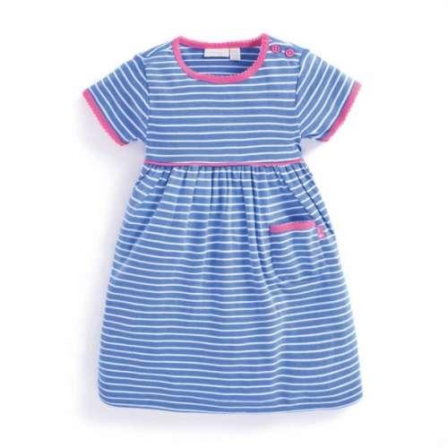 JoJo rövidujjú #kék-fehér-rózsaszín csíkos ruha