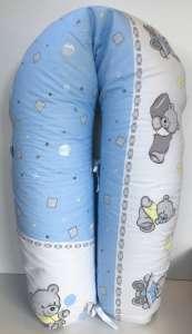 Baba-Mama többfunkciós Párna #kék játszó maci 30311732 Szoptatós párna, betét, huzat