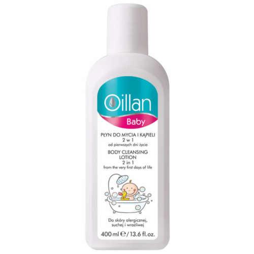 Oillan Baby Mosdató és fürdő folyadék 2:1 400ml