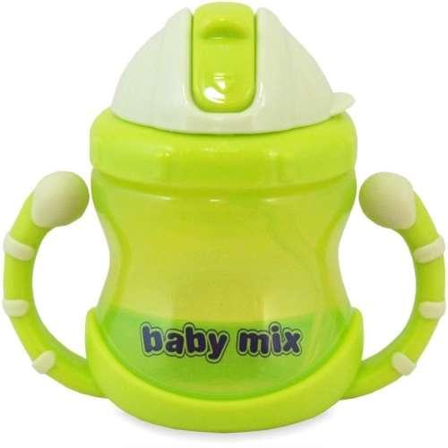 1db Baby Mix 200ml-es #zöld itatópohár szívószállal