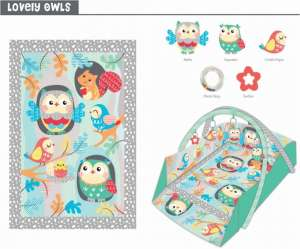 Baby Mix peremes Játszószőnyeg - erdei állatok 30265206
