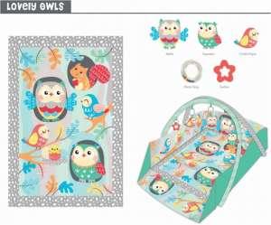 Baby Mix téglalap alapú peremes Játszószőnyeg #erdei állatok 30265206
