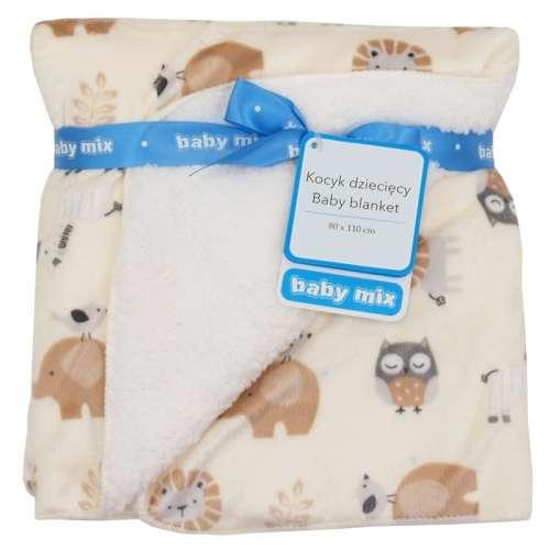 Baby Mix puha Babatakaró bagoly mintával 80x110 - minőségi termék