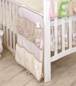 MamaKiddies Baby Bear Zsebes tároló #bézs macis mintával 30265242