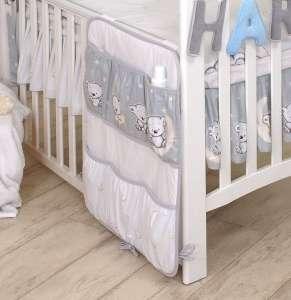 MamaKiddies Baby Bear Zsebes tároló - Maci #szürke 30265243