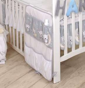 MamaKiddies Baby Bear Zsebes tároló #szürke macis mintával 30265243