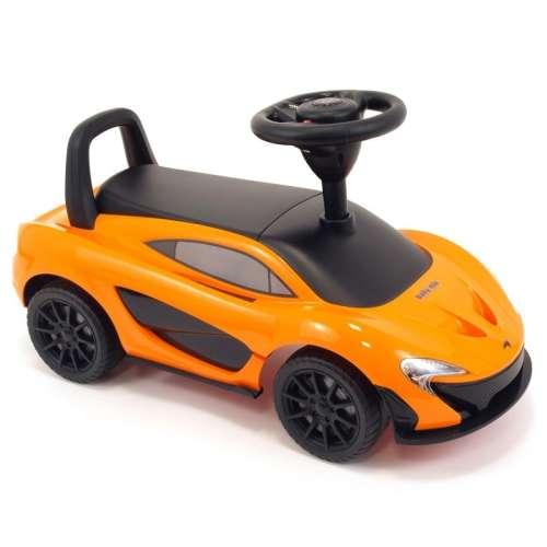 Baby Mix McLaren világító és zenélő lábbal hajtható autó narancs színben