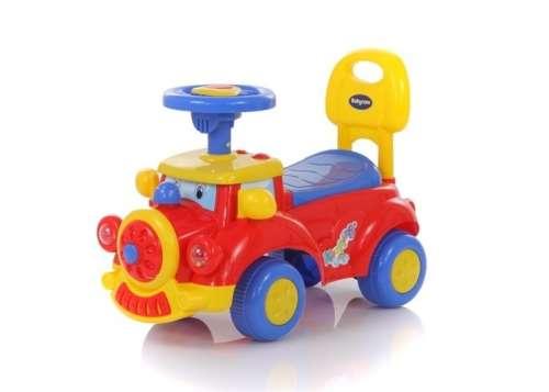 Baby Mix piros-kék lábbal hajtható autó