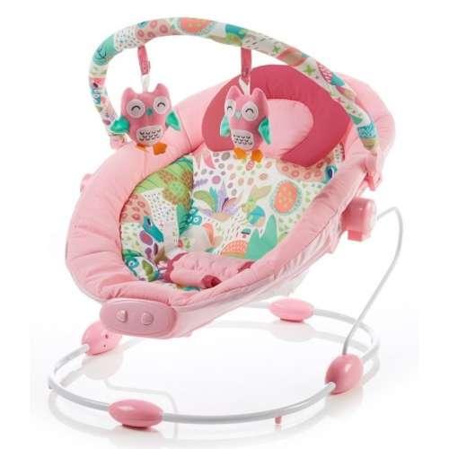 Baby Mix rezgős pihenőszék pink színben