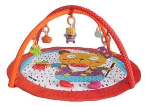 Baby Mix piros szélű kerek Játszószőnyeg #maci 30265280