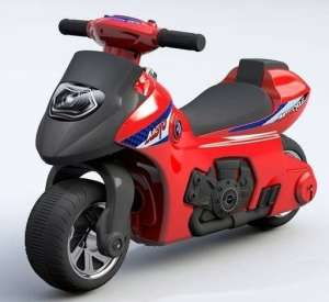 Lábbal hajtható kétkerekű Motor #piros  30265391
