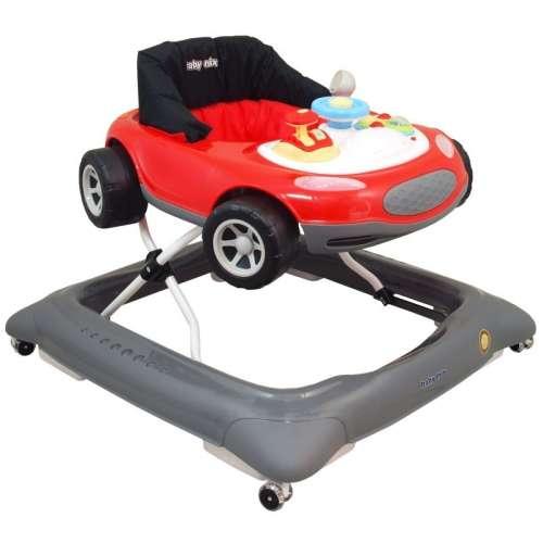 Baby Mix autós prémium bébikomp piros-szürke színben