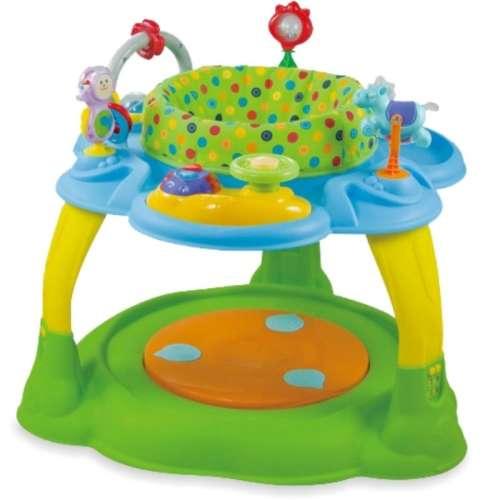 Baby Mix 2az1-ben Bébikomp és játszóasztal #zöld-kék színben