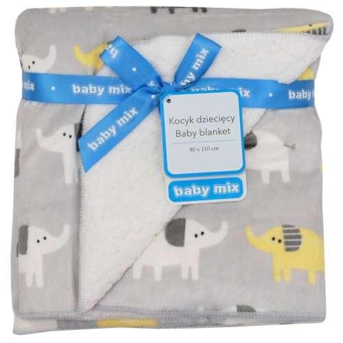Baby Mix puha Babatakaró elefánt mintával 80x110 - minőségi termék
