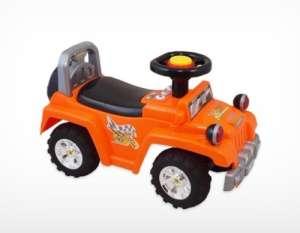 Baby Mix lábbal hajtható zenélő és világító Terepjáró #narancssárga 30265622