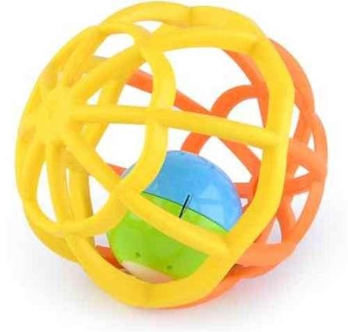 Gömb alakú #sárga és #narancssárga fejlesztő játék