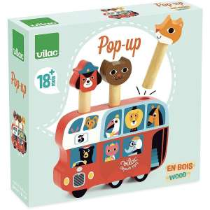 Vilac - Pop-up autóbusz fából 30405194