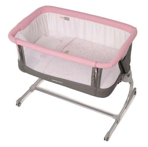 Jané BabySide szülői ágyhoz csatlakoztatható Kiságy 2018 #rózsaszín #szürke