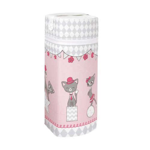 Ceba cumisüveg melegentartó Jumbo - Macskák pink