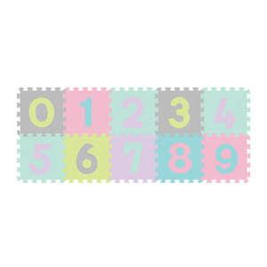 BabyOno szivacsPuzzle szőnyeg 10db számos pasztell-274/02 30268122