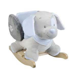 Nattou plüss Hintázó állatka - Kutya #kék 30268173 Hintaló, hintázó állatka
