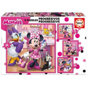 Educa Disney Minnie Egér Puzzle 4 az 1-ben 30477408