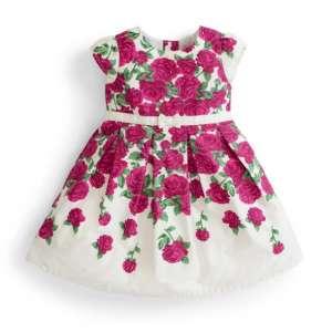 Jojo rövid ujjú Kislány ruha - Virág #lila-fehér 30268518 4 - 5 év