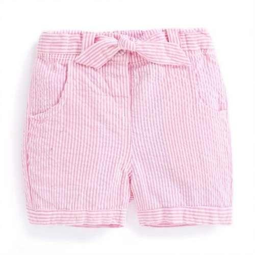 JoJo rózsaszín-fehér csíkos rövidnadrág