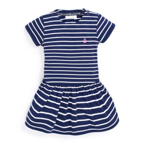 Jojo rövid ujjú Kislány ruha - Csíkos #kék-fehér