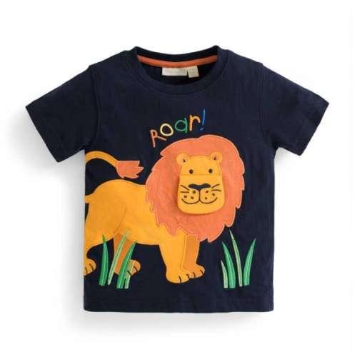 JoJo #sötétkék oroszlános rövidujjú Póló