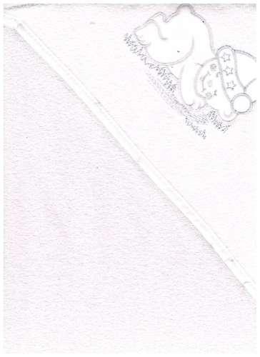 Kapucnis Fürdőlepedő 100x100cm #fehér alvó maci