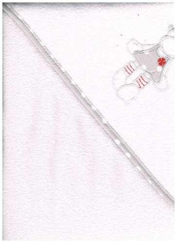 Kapucnis Fürdőlepedő 100x100cm #fehér boci