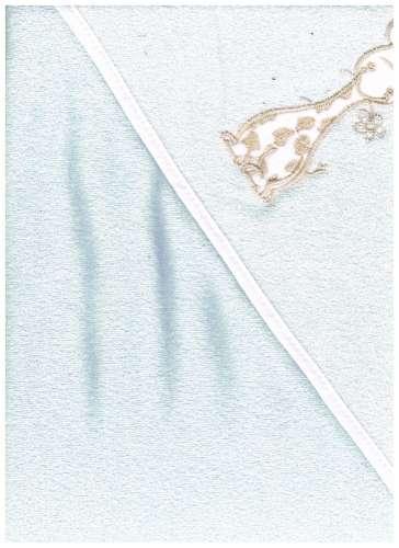 Kapucnis Fürdőlepedő 100x100cm #kék zsiráf