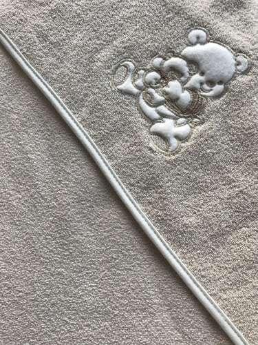 Kapucnis Fürdőlepedő 100x100cm #drapp maci