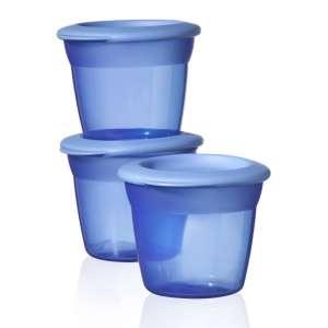 Tommee Tippee Essential Basic 3db Ételtároló tetővel #kék 30309593