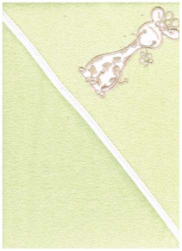 Kapucnis Fürdőlepedő 100x100cm #zöld zsiráf