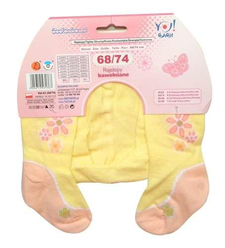 Yo! Baby pamut harisnyanadrág (92-98) - sárga pillangó