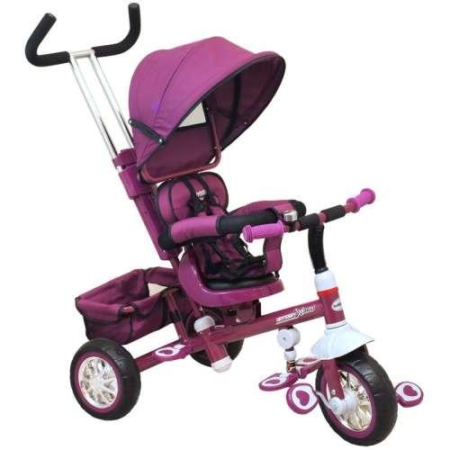 Baby Mix Odyssey lila Tricikli kupolával (360°-ban forgatható ülés)