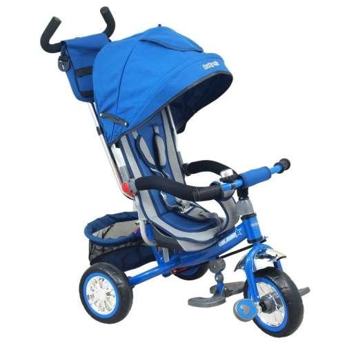 Baby Mix Prémium Tricikli #kék tolókarral és lábtartóval