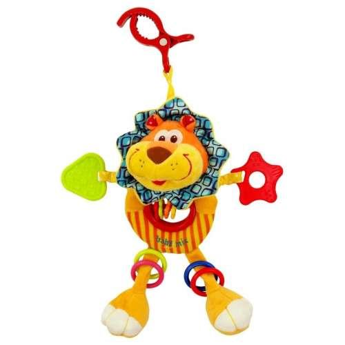 Baby Mix oroszlános babahordozóra vagy babakocsira szerelhető plüssjáték rágókával