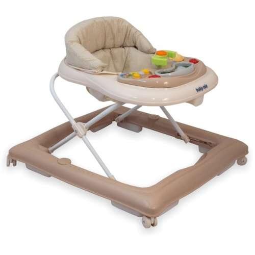 Baby Mix bébikomp világosbarna színben játékokkal